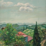 Ausblick aus dem Fenster von Max Ernsts Atelier