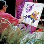 Eva malt ein Stilleben