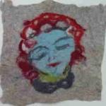 Filzportrait, entstanden im Atelier von Karen Betty Tobias in Köln